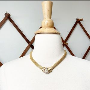 Dior • Rhinestone Chocker Necklace